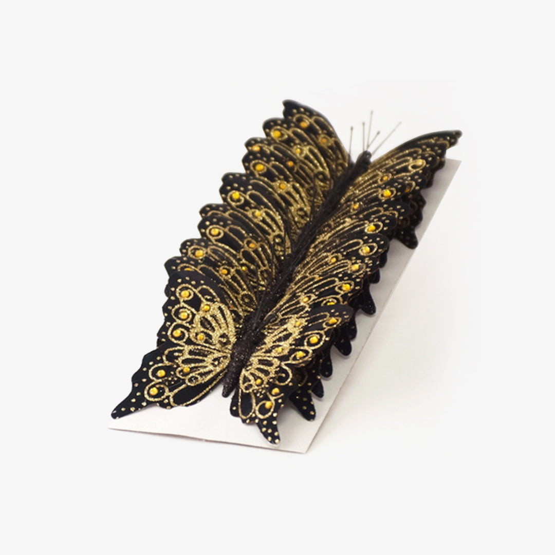 Glitter Monarch Butterfly 4 Inch Pack of 12