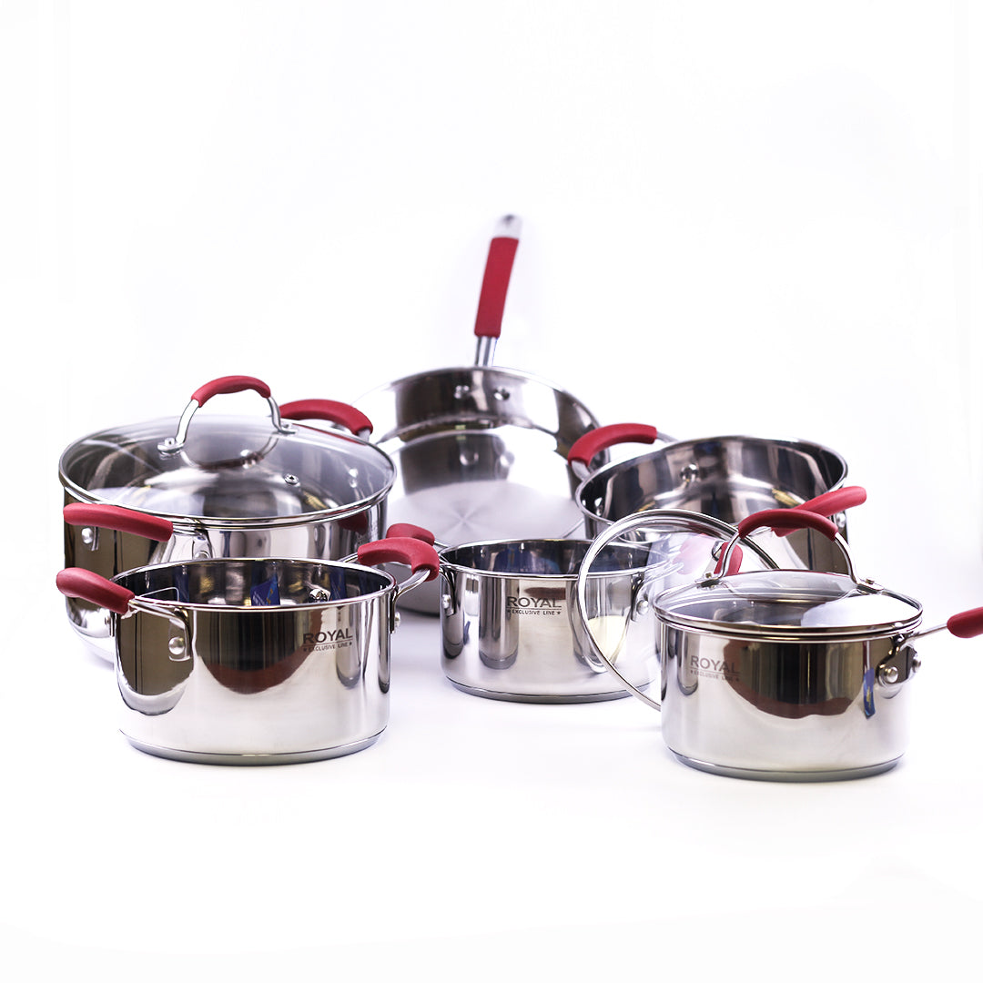 Cookware Set 100% Stainless Steel Standard Germany Design 12 Pieces