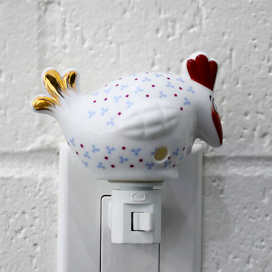 Ceramic Plug-in Nursery Night Light Cute Night Lamp