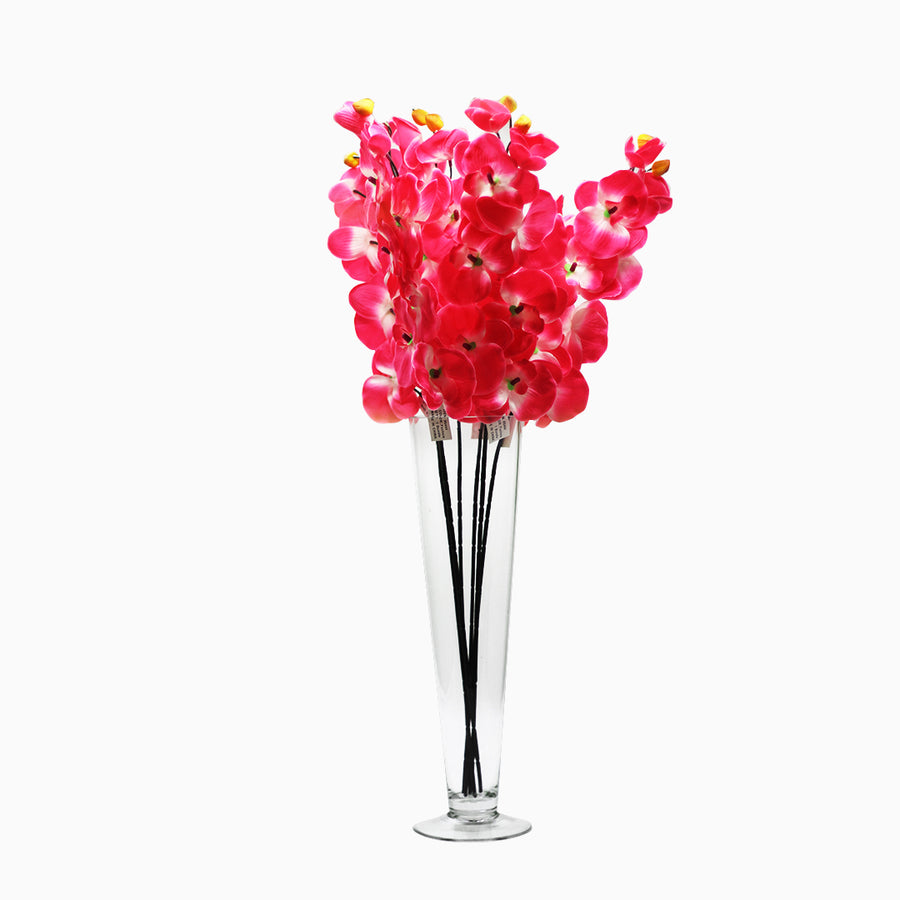 Artificial Flowers Silk Orchids 28 Inch Pack of 6