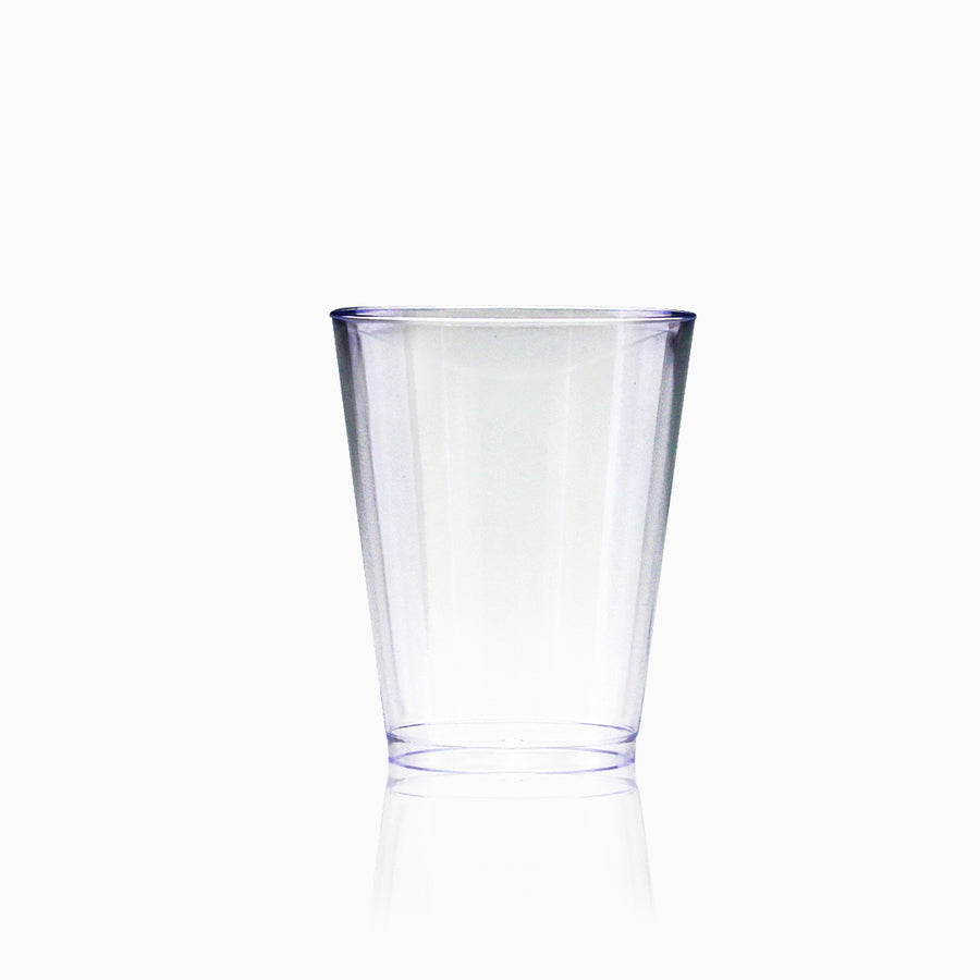 Disposable Tumbler 8 oz Clear Hard Plastic Party Cups 30 Pieces