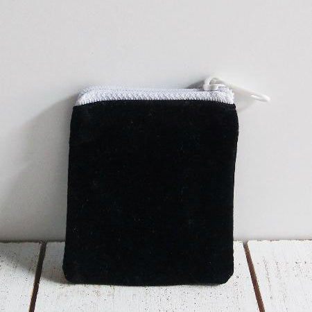 Velvet Zippered Bag 5 Inch x 4 Inch Pack of 12 Pieces