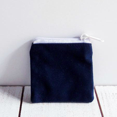 Velvet Zippered Bag 2.5 Inch x 2.5 Inch Pack of 12 Pieces