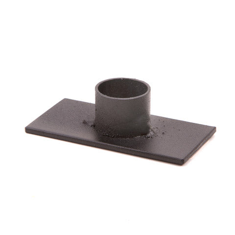 Candlestick Base - Metal - Black - 3.125 x .875 Inches