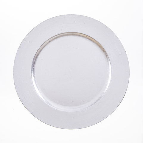 Silver Charger Plate 13 Inches Pack of 6 Pieces