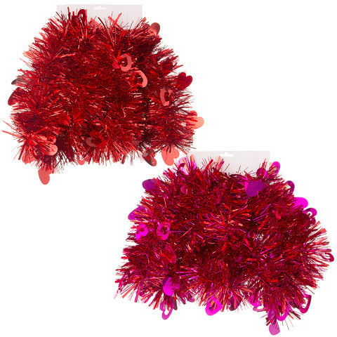 Valentine's Day Garland: 104.8 x 4.9 Inches, 2 Assorted Colors