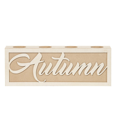 Autumn Tea Light Holder: 12.01 x 4.29 Inches