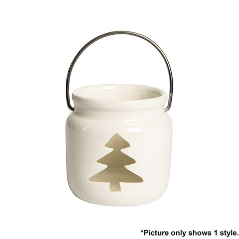 Christmas Mini Candle Holder Lantern: 3.43 Inches, 2 Assorted Styles