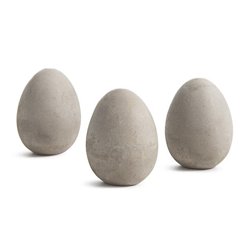 Cement Eggs: 1.75 x 2.25 inches, 3 pack