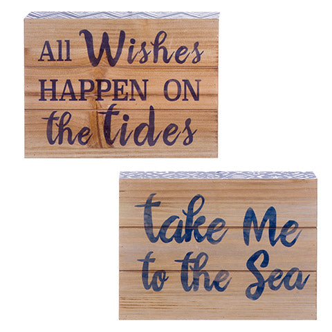 Nautical Tabletop Sign: 7.88 x 7 inches, 2 Assorted Styles