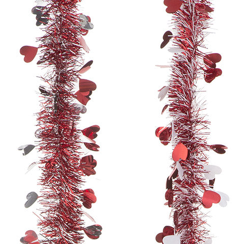 Mini Valentine's Day Garland: 9 feet, 2 Assorted Colors