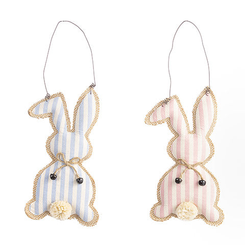 Bunny Wall Hanging: 6 x 11 Inches, 2 Assorted Colors