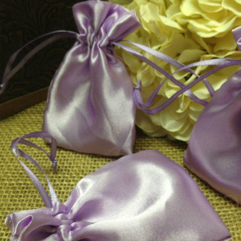 Satin Jewelry Pouches 3 Inch x 4 Inch Pack of 6 Bags