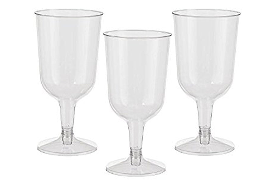 Clear Plastic Champagne Flutes Pack of 12
