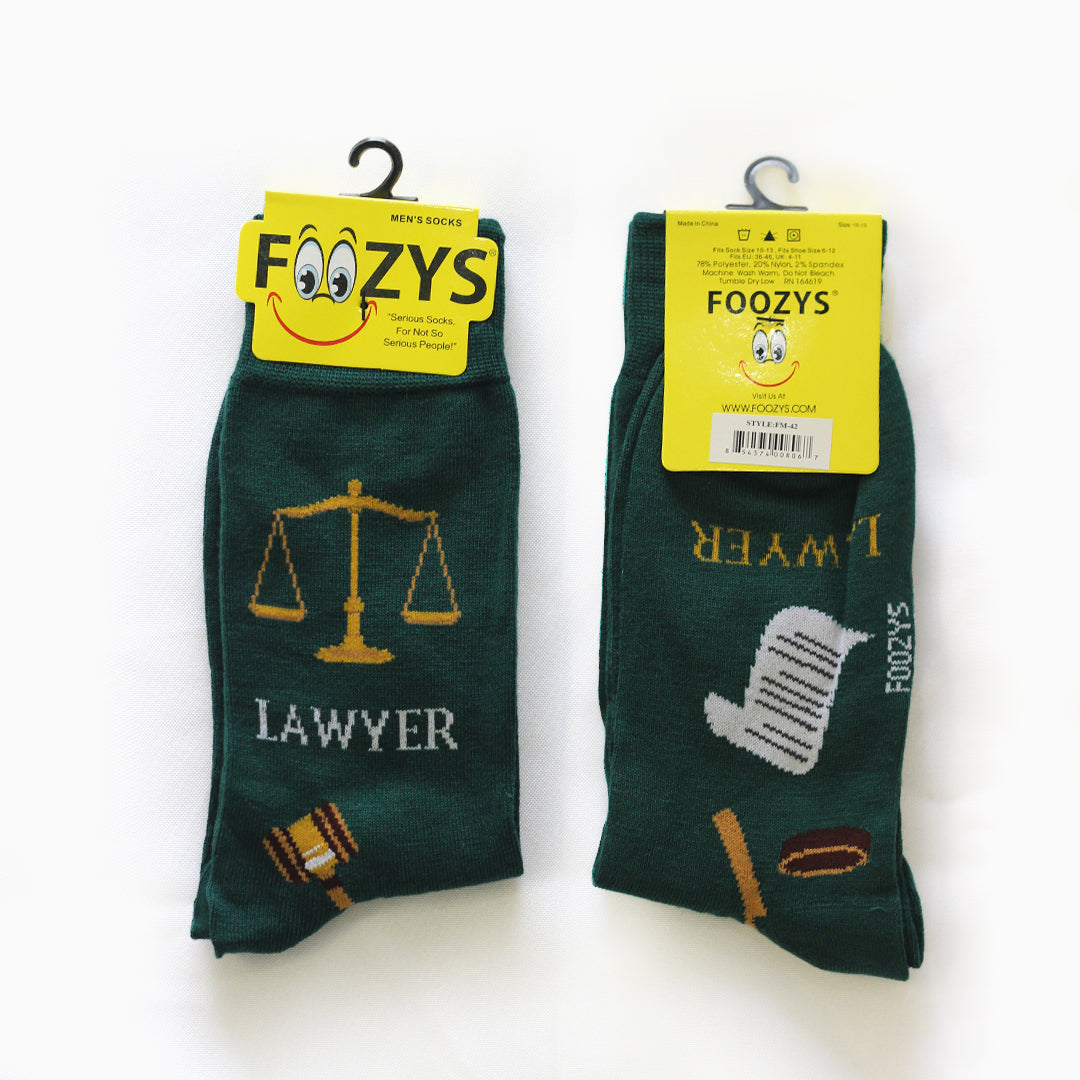 Foozys Men's Working Professional Crew Novelty Socks