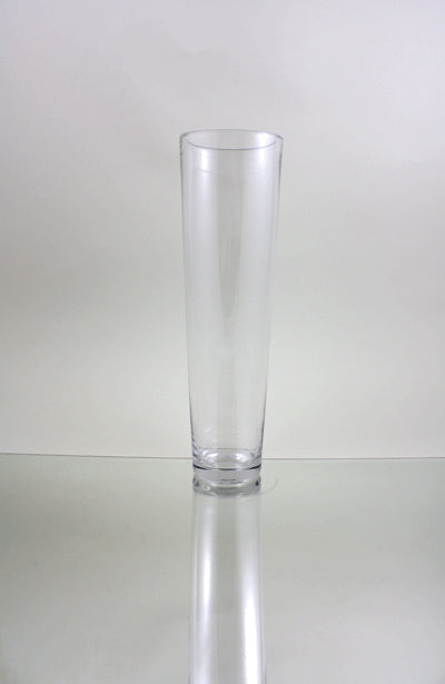 Clear Taper Down Cylinder Glass Vases