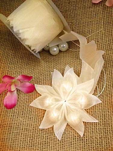 Star Shape Pull Bow Ribbon for Jordan Almonds Candy Decor Wedding Favor