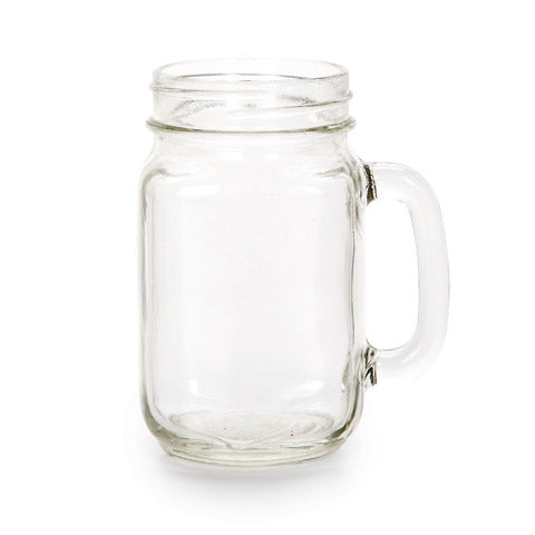 Glass Mason Jar - Clear - 16 Ounces - 3.15 x 3.15 x 5.51 Inches