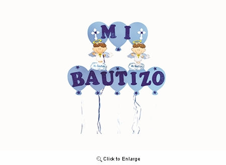 Mi Bautizo Home Foam Bunting Banner Garlands - 6 Pieces