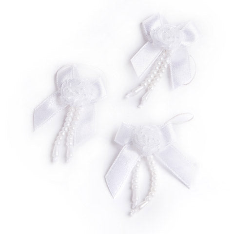 Victoria Lynn™ Bridal Bubble Bows - White - 12 pieces