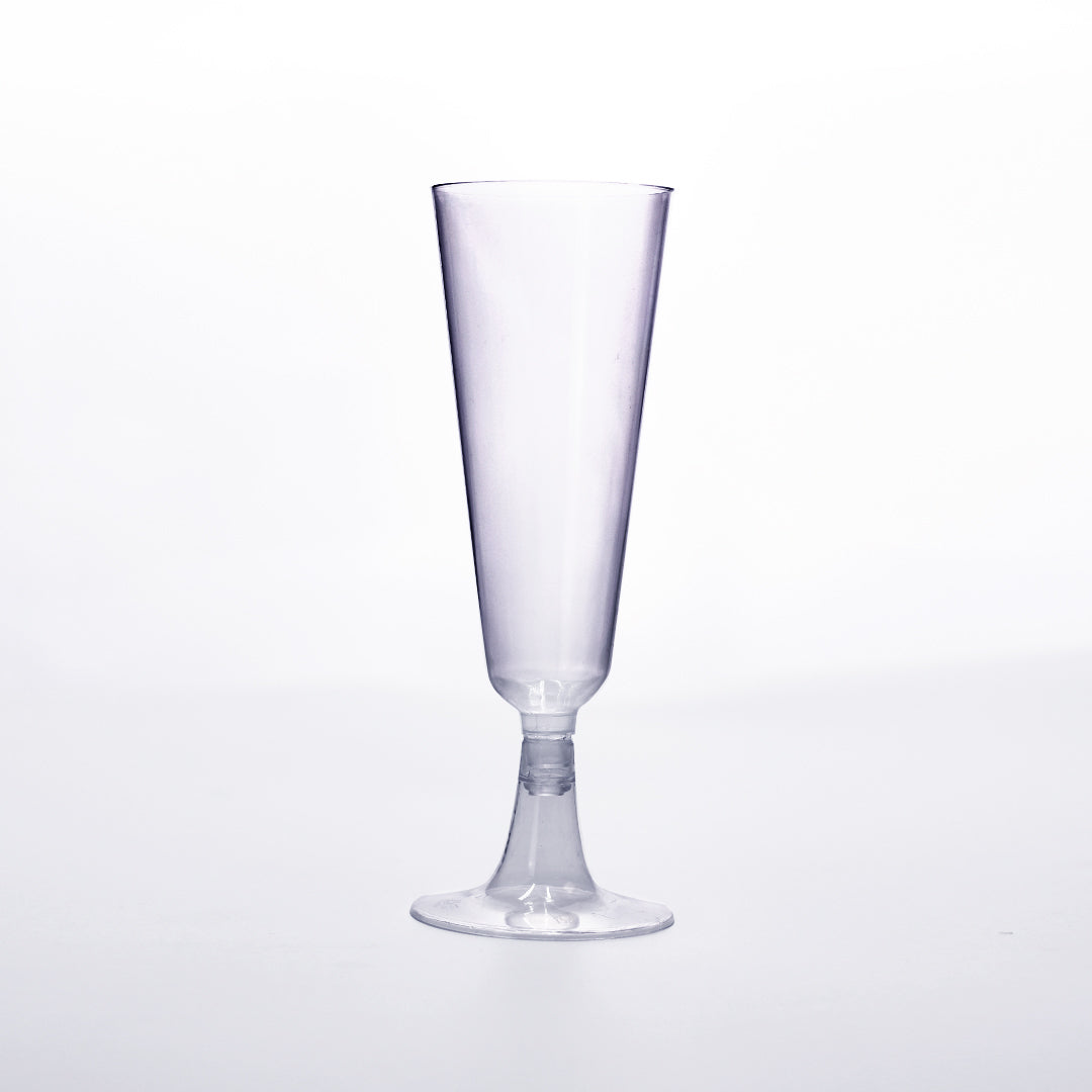 Disposable Flute Glasses 5.5 oz Clear Hard Plastic Party Cups 30 Pieces