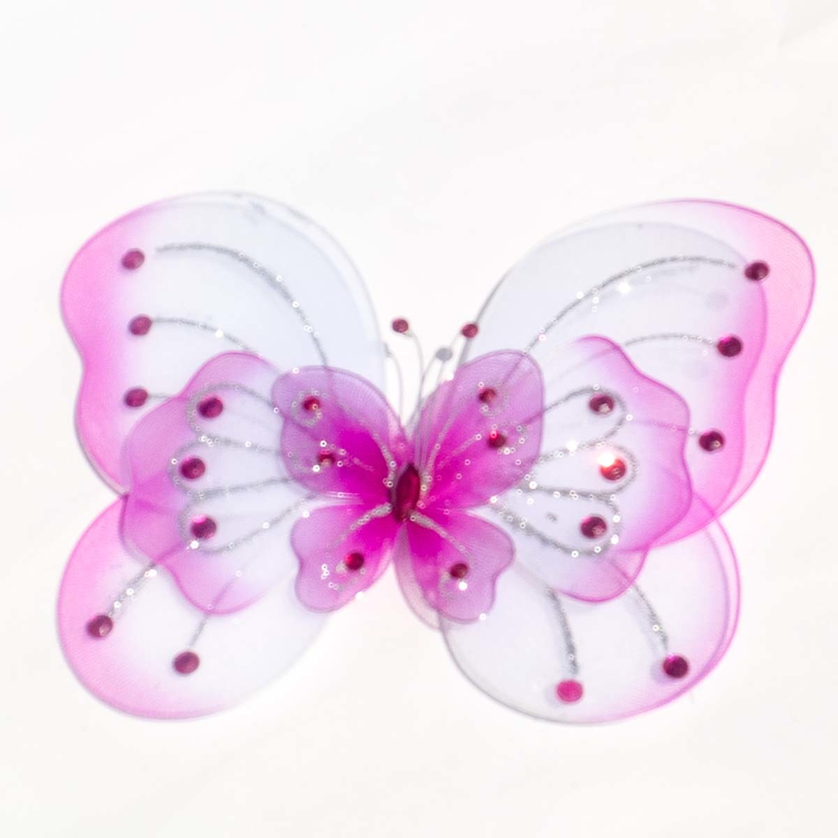 Large Wired Organza Butterfly 8 Inch Pack of 10