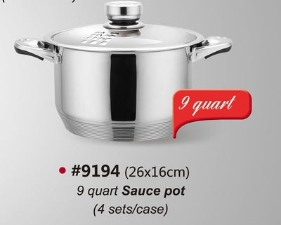 Maxcook Saucepan with Lid Case of 6 Pcs
