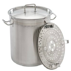 Large Heavy Sandwich Bottom Stock Pot With Steamer