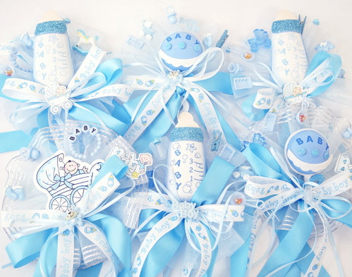 Baby Shower Mixed Pin Corsages  - Pack of 6