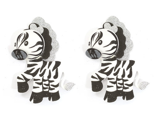 3D Foam Animal Decoration 2.75 Inch - Pack of 12