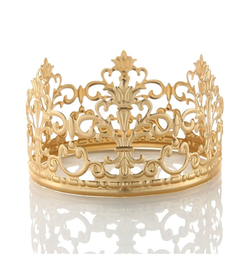 Crown Cake Top Gold Pack of 6