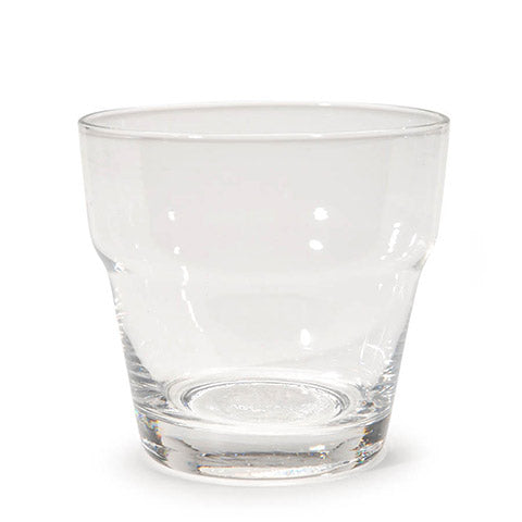 Votive Candle Holder - Flower Pot - Clear Glass - 12 Pieces