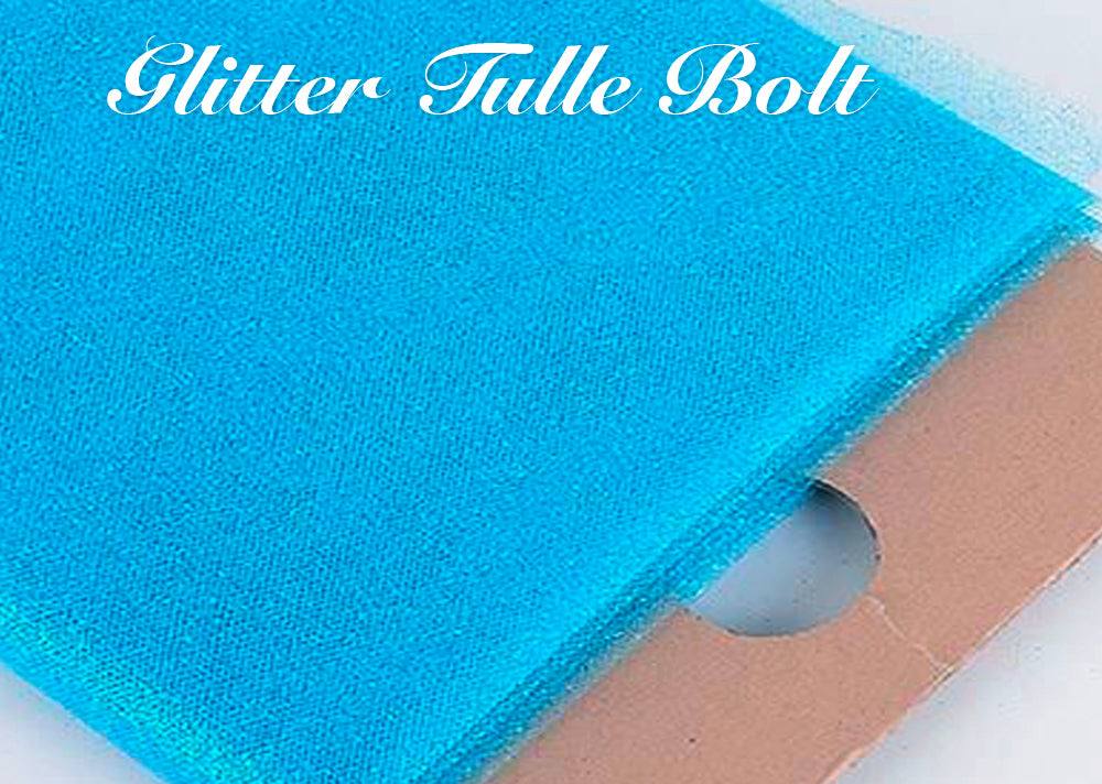 Glitter Tulle Bolts 54 Inch x 10 Yard Wedding Fabric