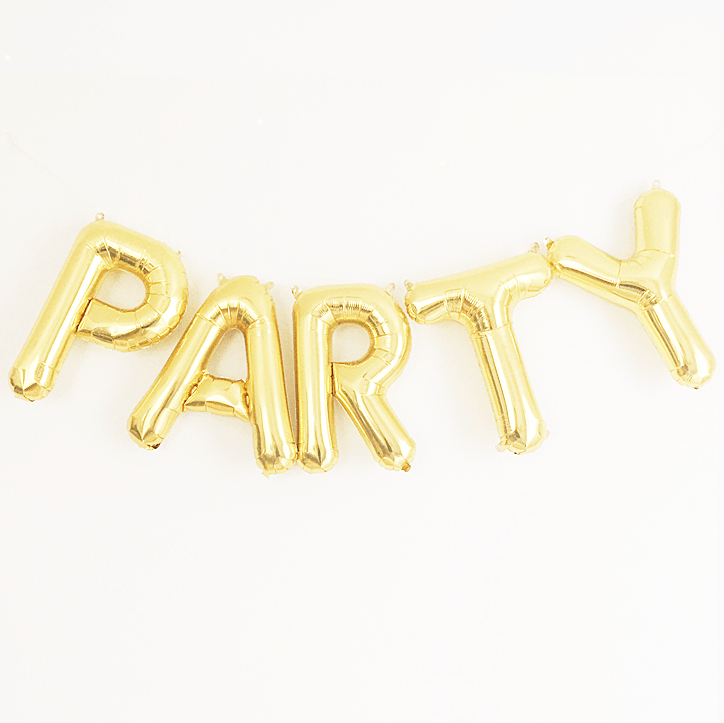 Gold Party Mylar Banner