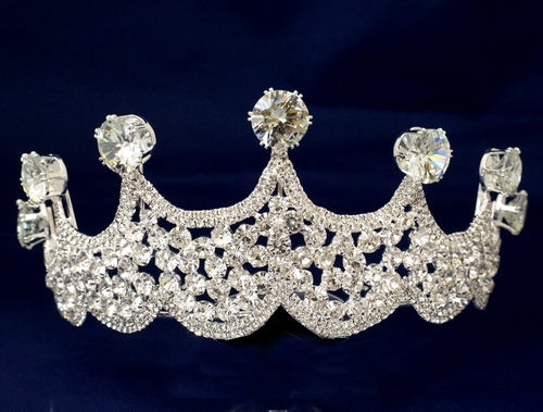 Crystal Tiara Large Rhinestone Crown