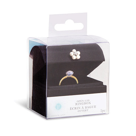 Victoria Lynn™ Ring Box - Satin - Black - 3 x 3 inches