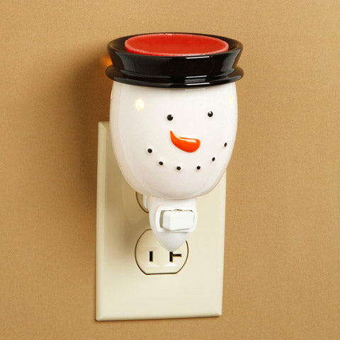 Ceramic Plug-In Wax Warmer - Snowman Design