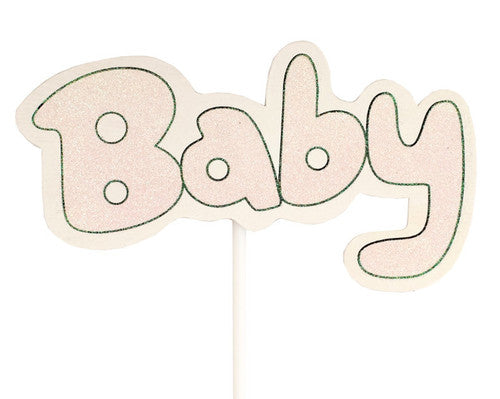 Baby Shower Wooden Decoration Pick 8.25 x 5.5 Inch- Pack of 6