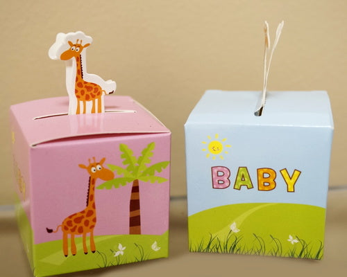 Baby Shower Paper Favor Box 2 Inch - Pack of 50