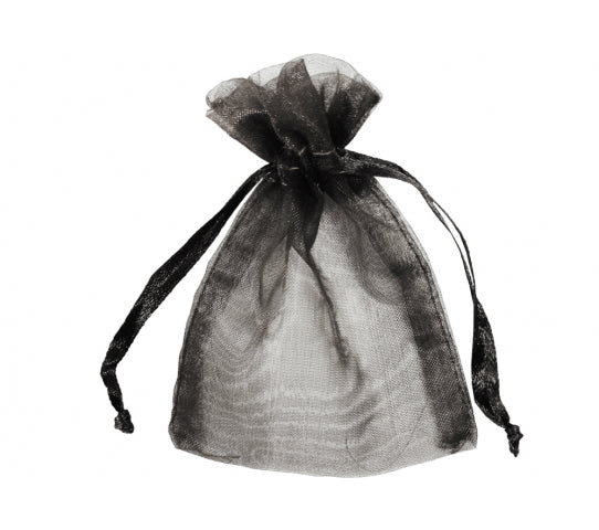 6 Inch x 10 Inch Organza Plain Sheer Gift Favor Bags Pack of 10