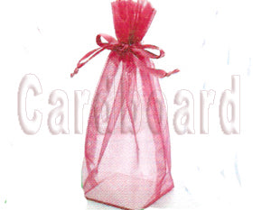 6 Inch x 9 1/2 Inch x 3 Inch White Square Bottom with Cardboard Bottom Organza Sheer Gift Favor Bags Pack of 20