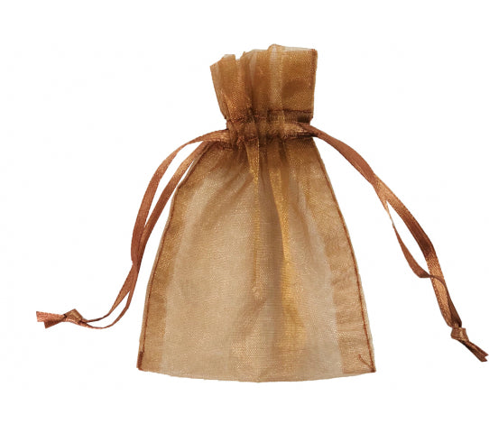 10 Inch x 12 Inch Organza Plain Sheer Gift Favor Bags Pack of 10