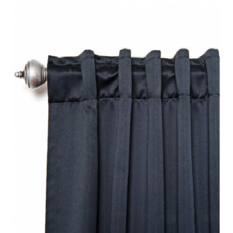 Superbeddings Back-Tab Blackout Thermal Insulated Curtain 52 W x 63 L Set (Pair, 2 Panels)