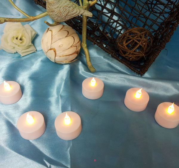 LED Tea Lights Candle Yellow Flameless Battery Operated Tealights Pack of 12