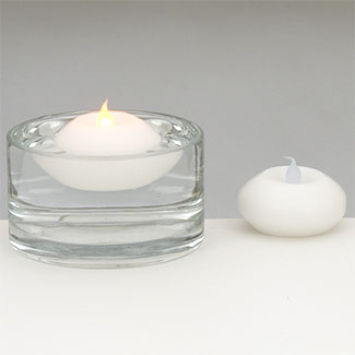 Floating White Tea LED Candles Pack of 12