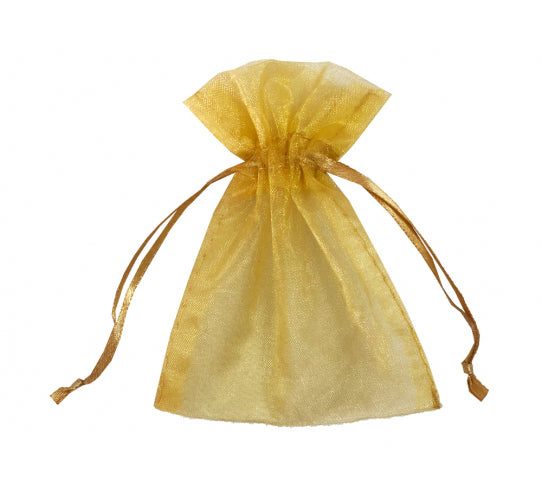 20 Inch x 21 Inch Organza Plain Sheer Gift Favor Bags Pack of 10