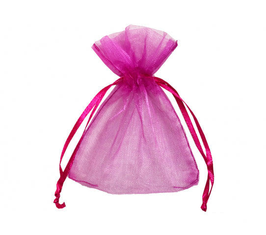 3 Inch x 4 Inch Organza Plain Sheer Gift Favor Bags 144 Count $0.05 Each