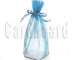 4 Inch x 6 Inch x 2 Inch Ivory Square Bottom with Cardboard Bottom Organza Sheer Gift Favor Bags Pack of 20