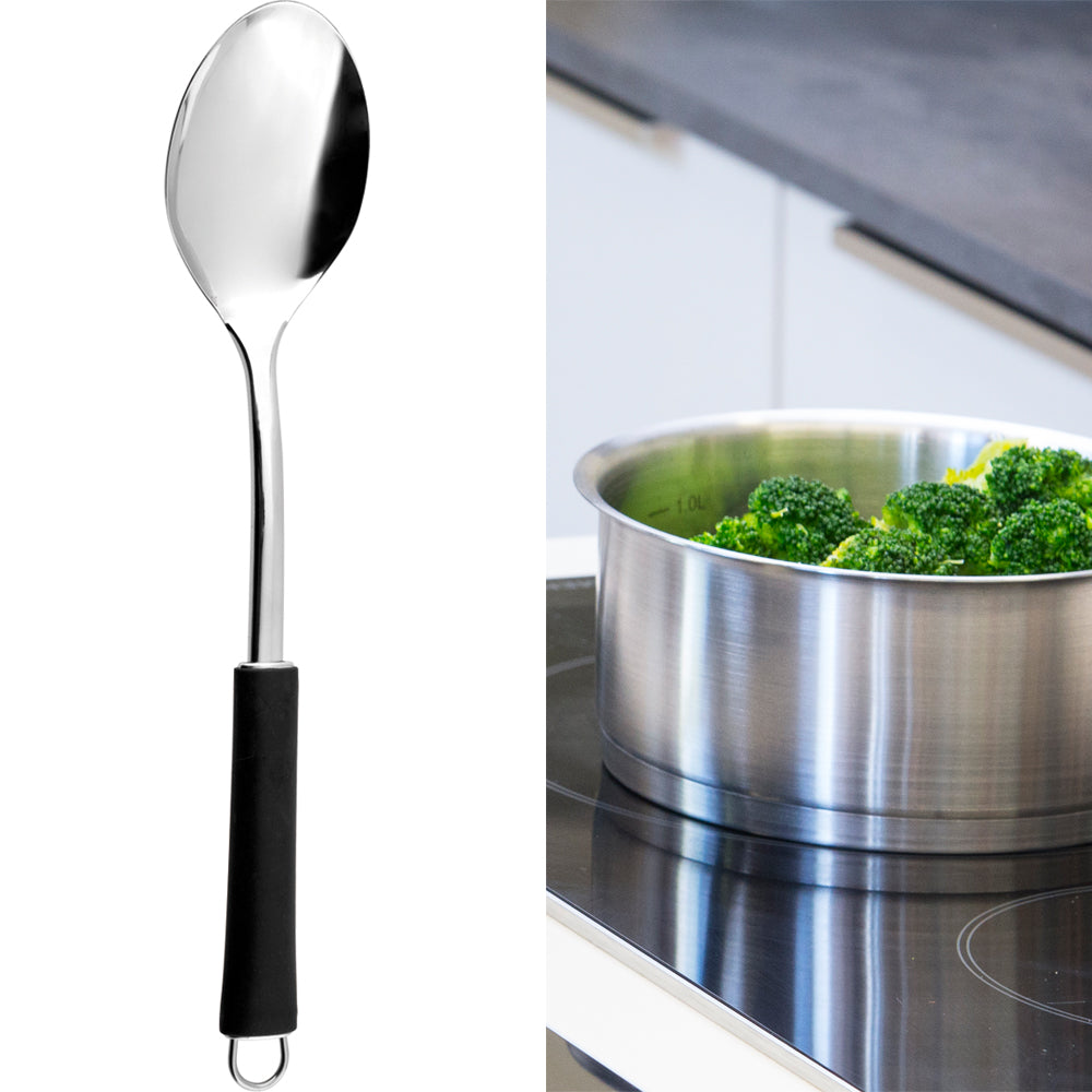 Stainless Steel Serving Spoon 15.5 Inch | MALCHIN