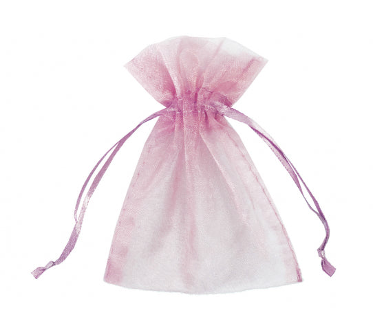 4 Inch x 6 Inch Organza Plain Sheer Gift Favor Bags Pack of 10